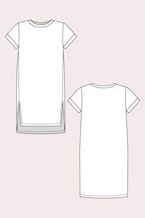 Inari t-shirt dress & crop tee