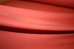 Brændt orange viscose jersey